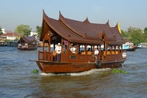 Time for lunch at the Oriental, Bangkok, via the hotel river shuttle