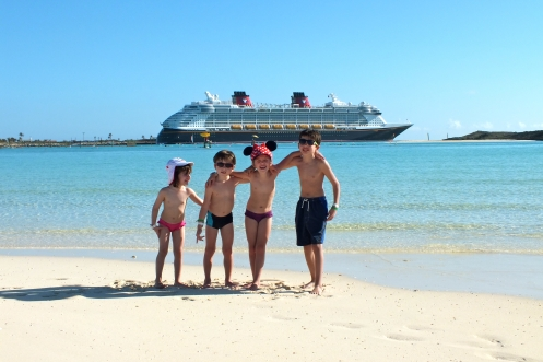 On the beach at Castaway Cay