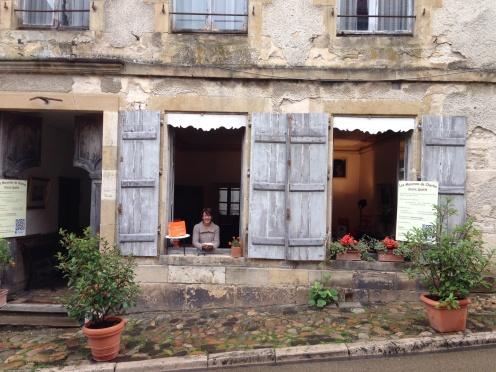Charming macaroon seller in Vezelay